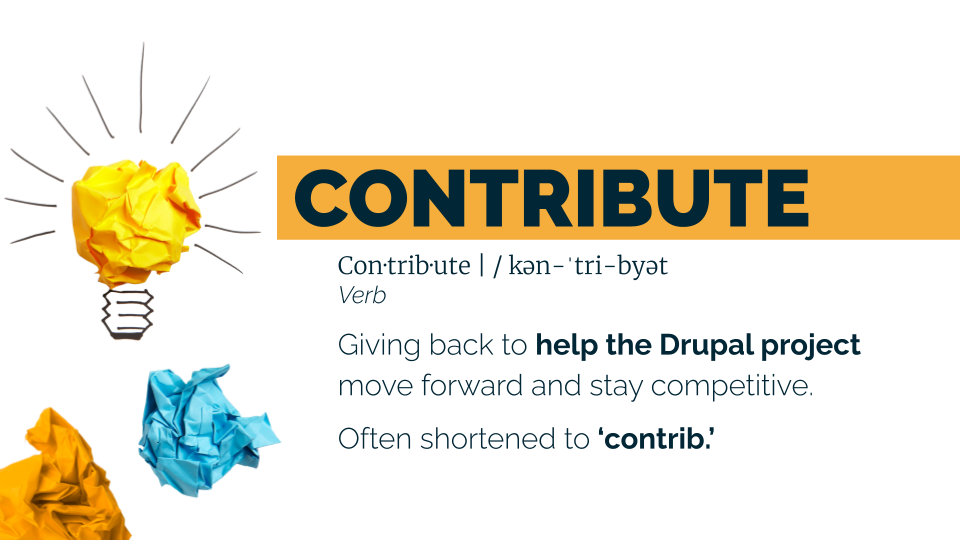 contribute definition