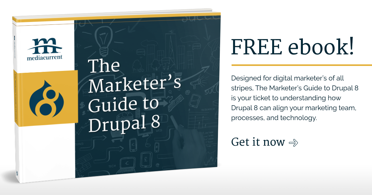 Download the Marketers guide to Drupal 8
