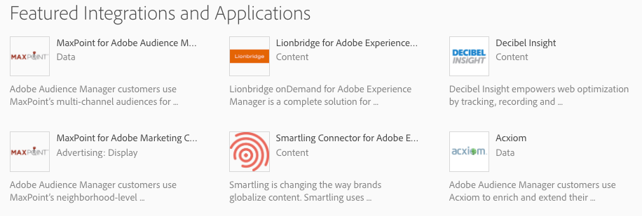 Adobe Marketing Cloud Exchange