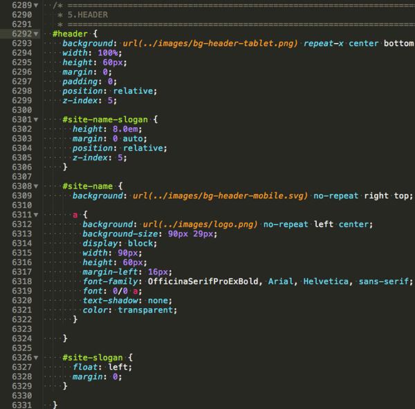 Header styles for tablet-landscape