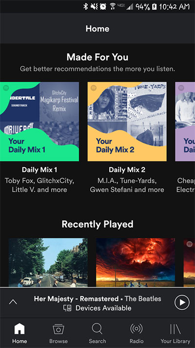 Spotify's personalized playlists