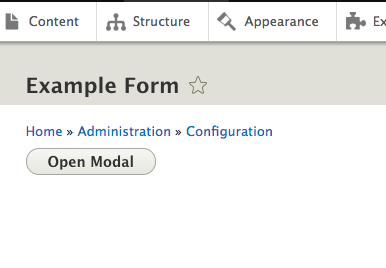Modal Forms in Drupal 8