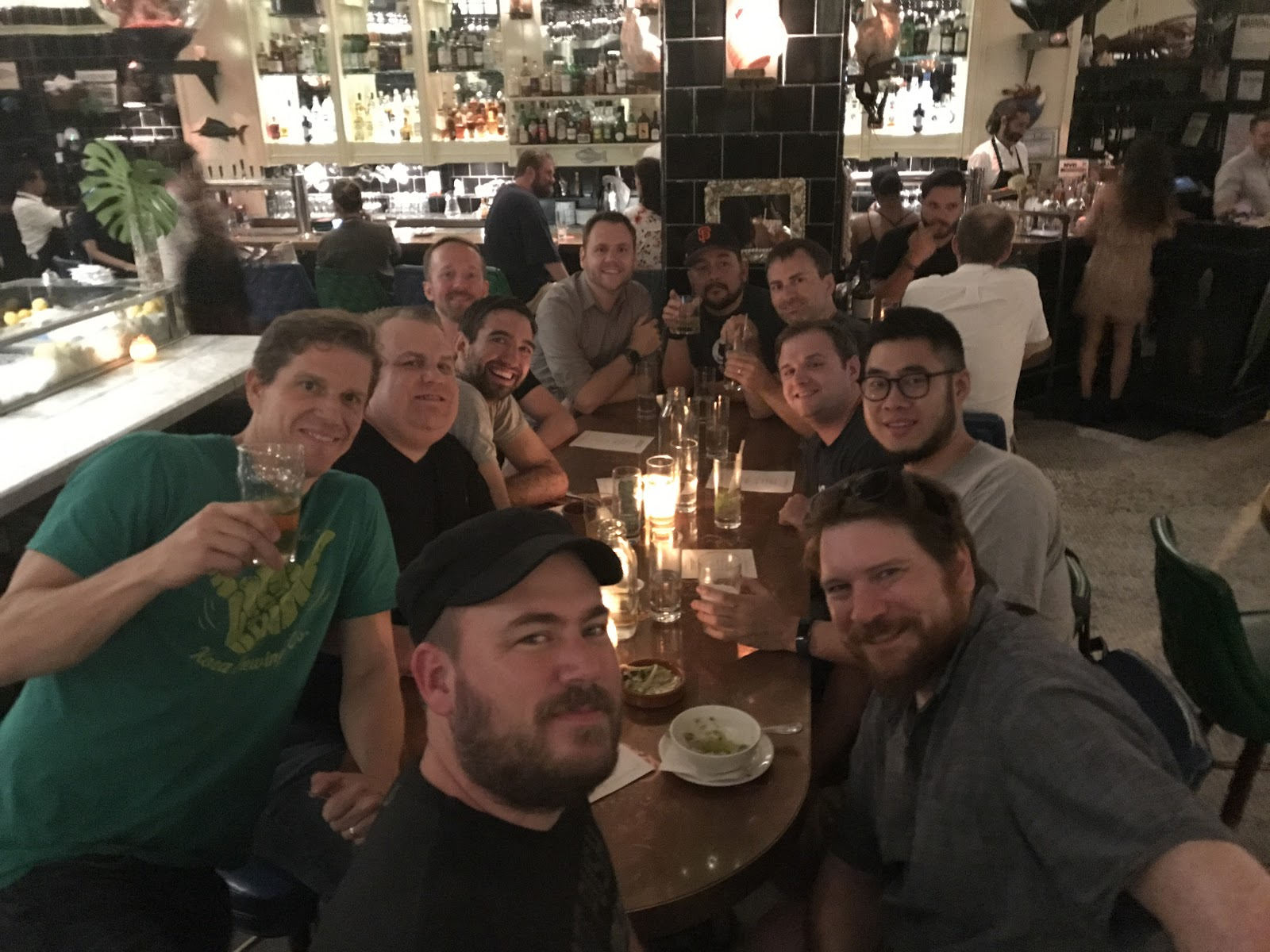 A Mediacurrent team dinner during the event