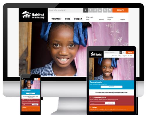Habitat.org mobile responsive homepage