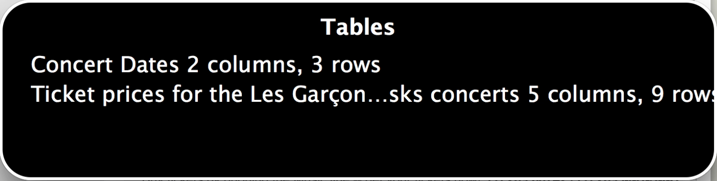 Example of how a screen reader would interpret a captioned table