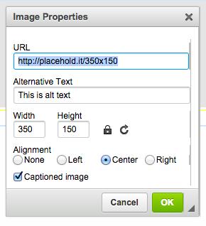 CKEditor's Image2 plugin modal