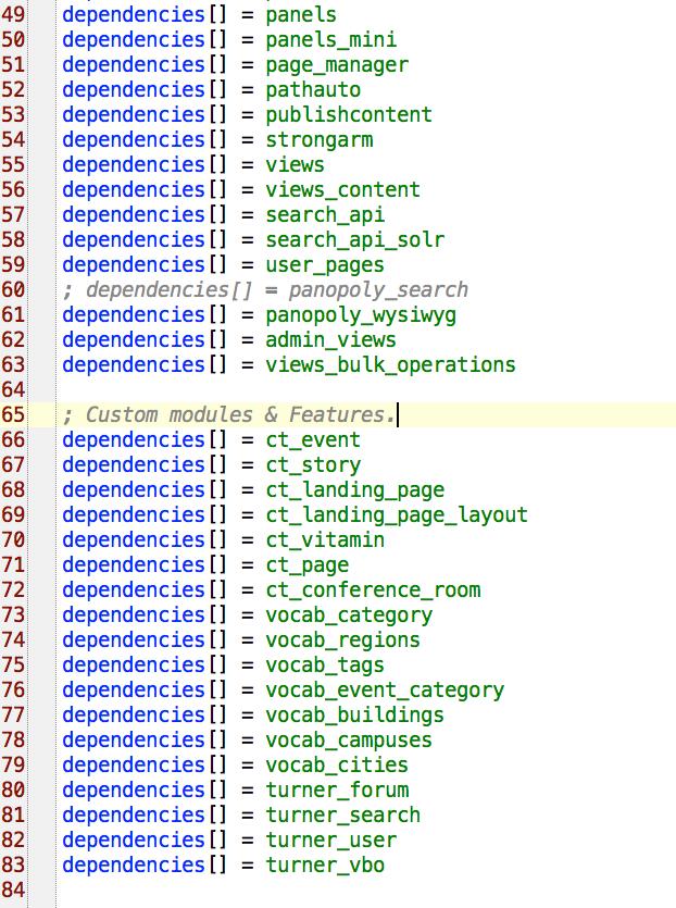 Drupal instal profile .info file