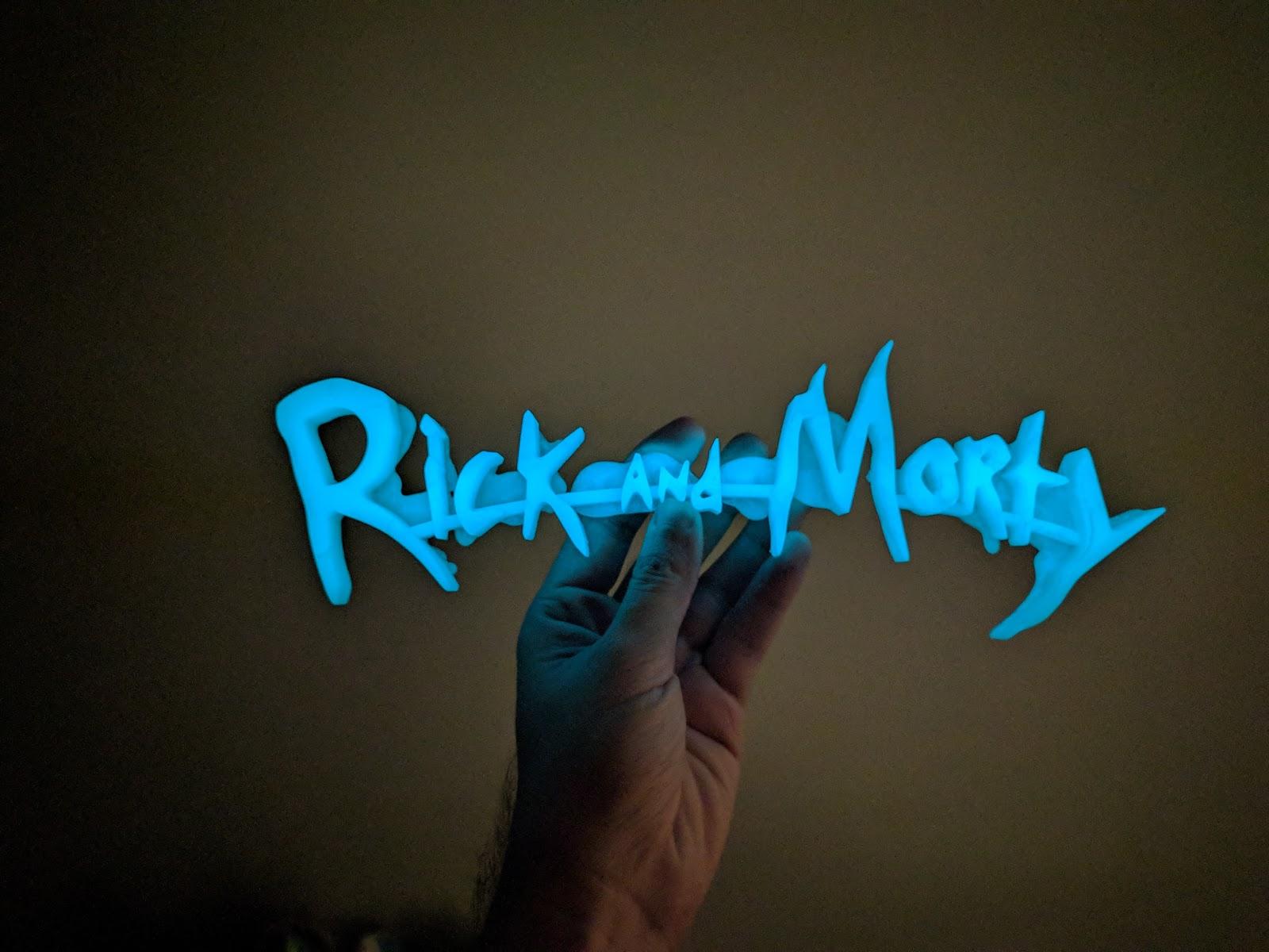 Rick and Morty Logo 3D Printing