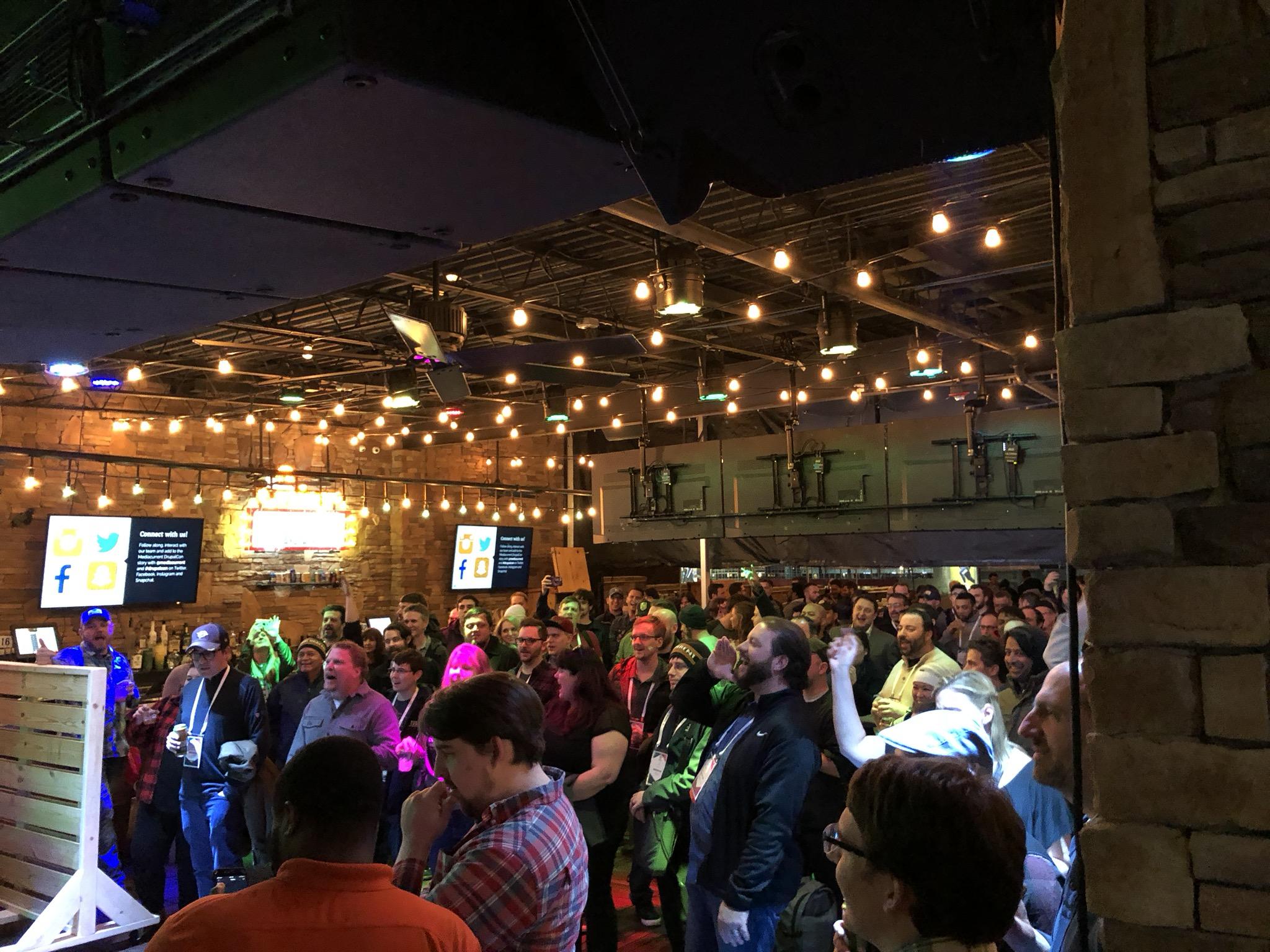 karaoke at Mediacurrent's DrupalCon Nashville after party