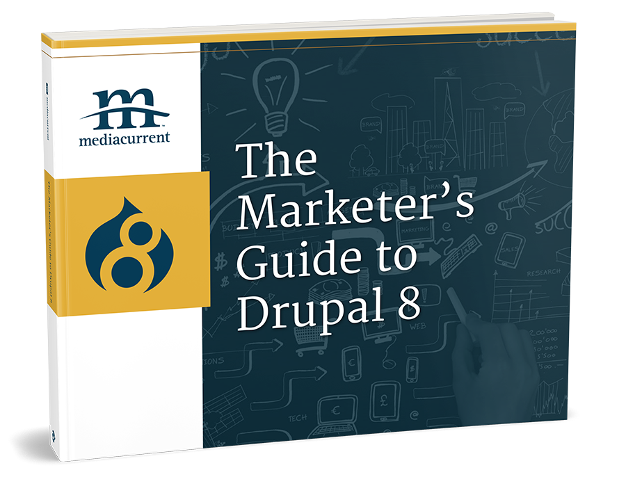 3-D book cover of Marketing with Drupal 8 e-book