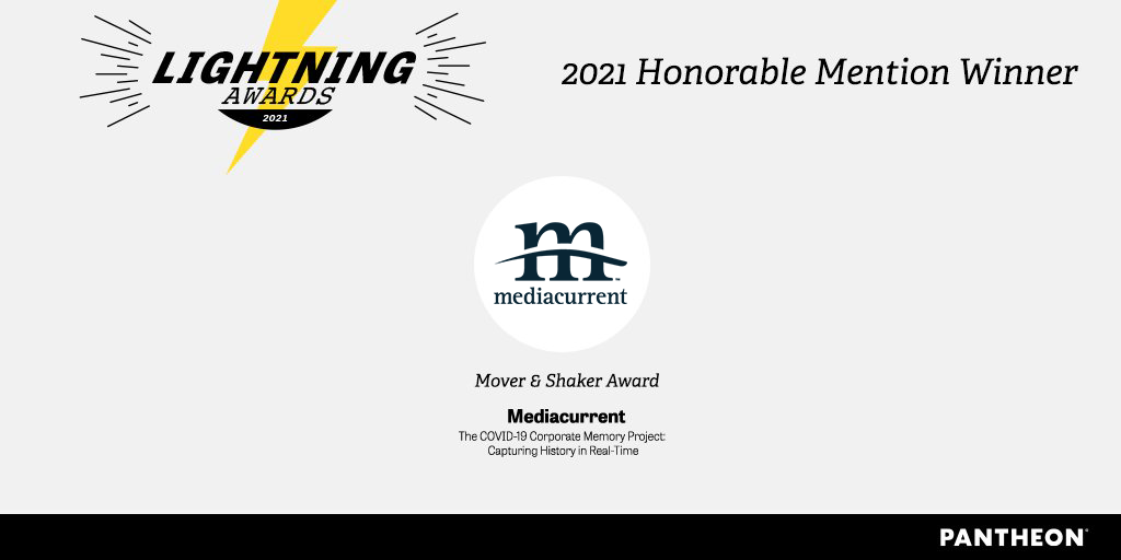 Mediacurrent Pantheon Lightning Award