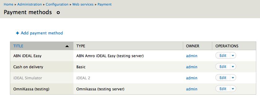 the Drupal payment module
