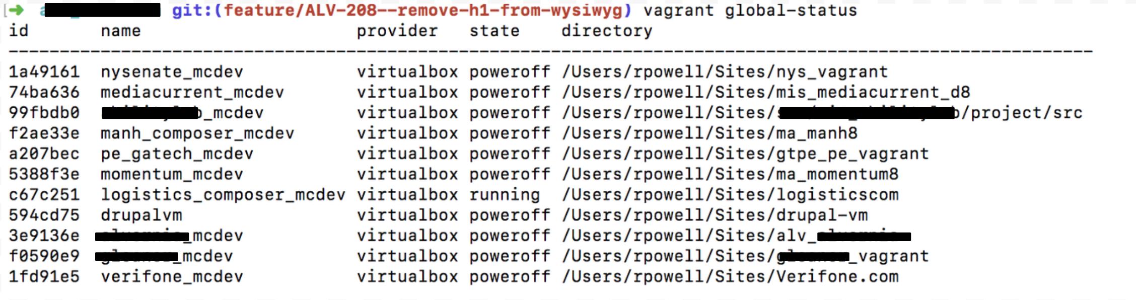 Vagrant/VirtualBox setup