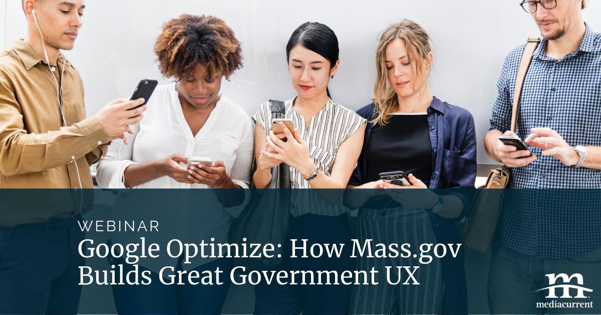 Mass.gov A/B testing webinar
