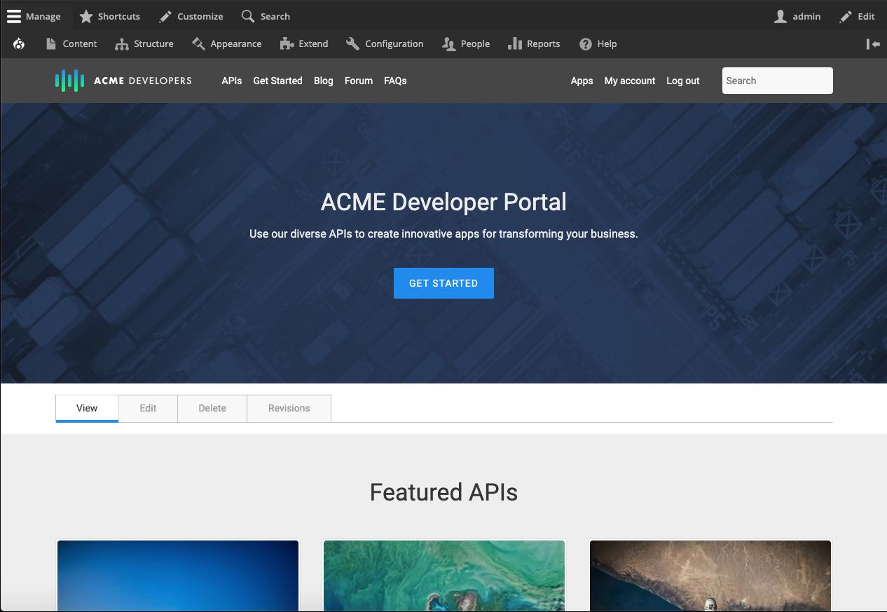 Apigee homepage
