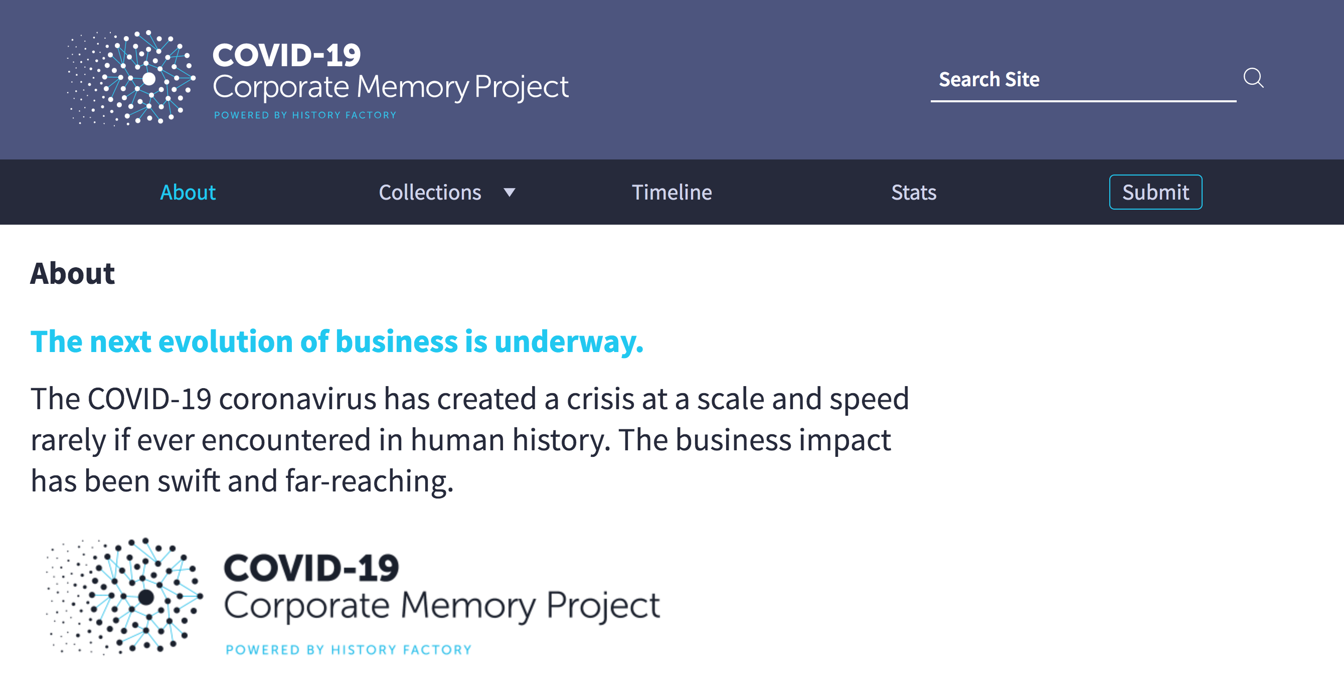 c19 corporate memory about us page