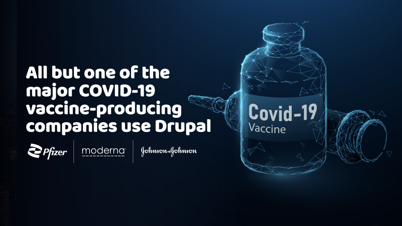 Covid vaccine sites Pfizer, Modern, J&J run on Drupal