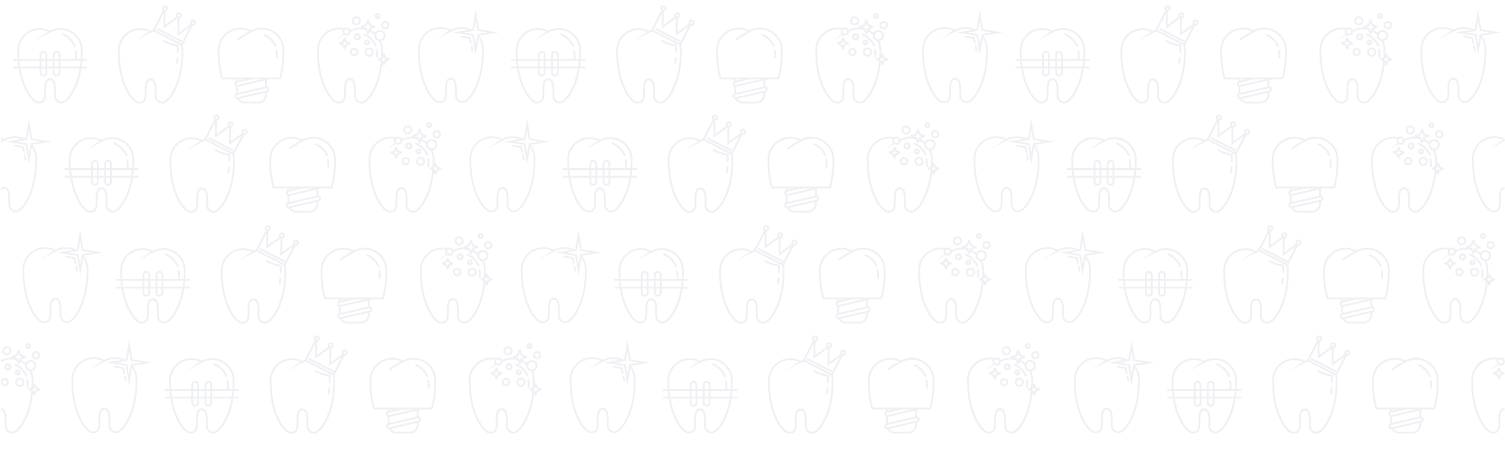 icons of teeth on a white background