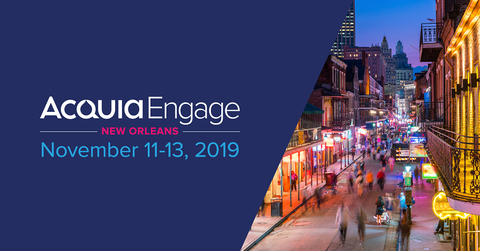 Acquia Engage banner with image of New Orleans street