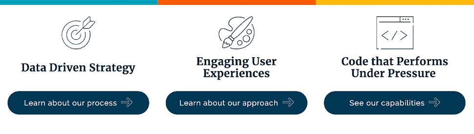 rainbow bar addition to homepage for brand evolution