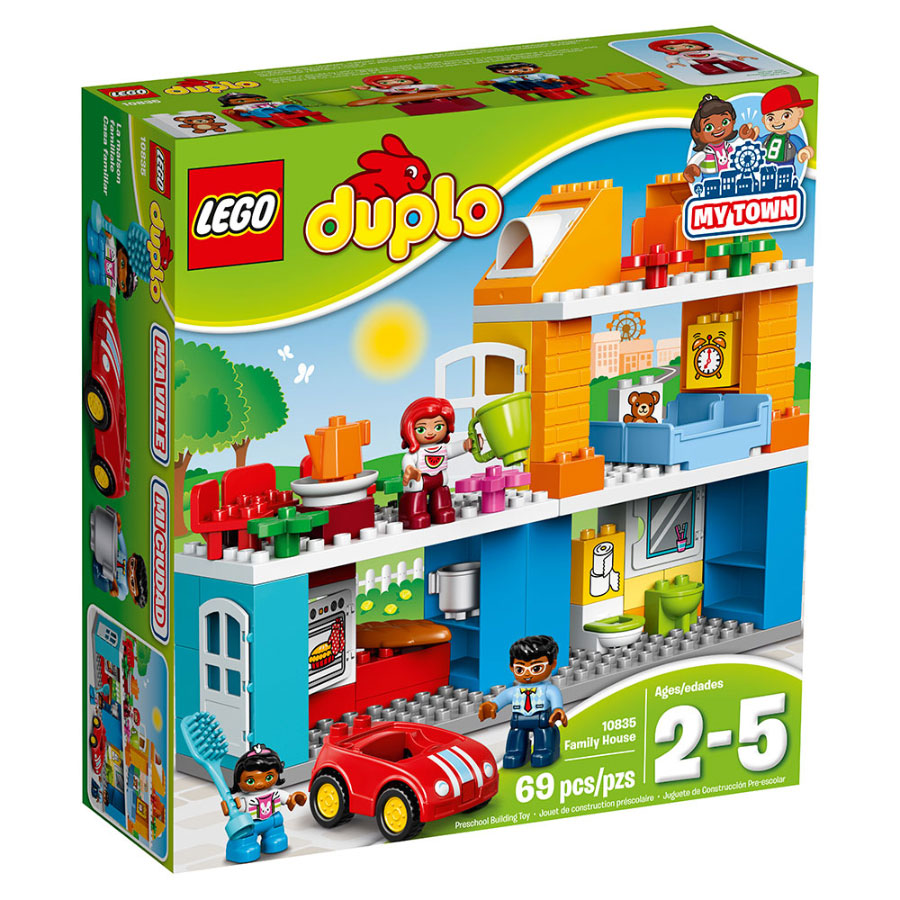 Lego Duplo set, simple with large building blocks like Wordpress