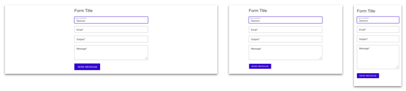 form components for desktop, tablet, and mobile