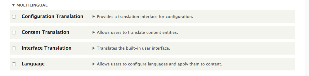 Drupal 8 multilingual configuration