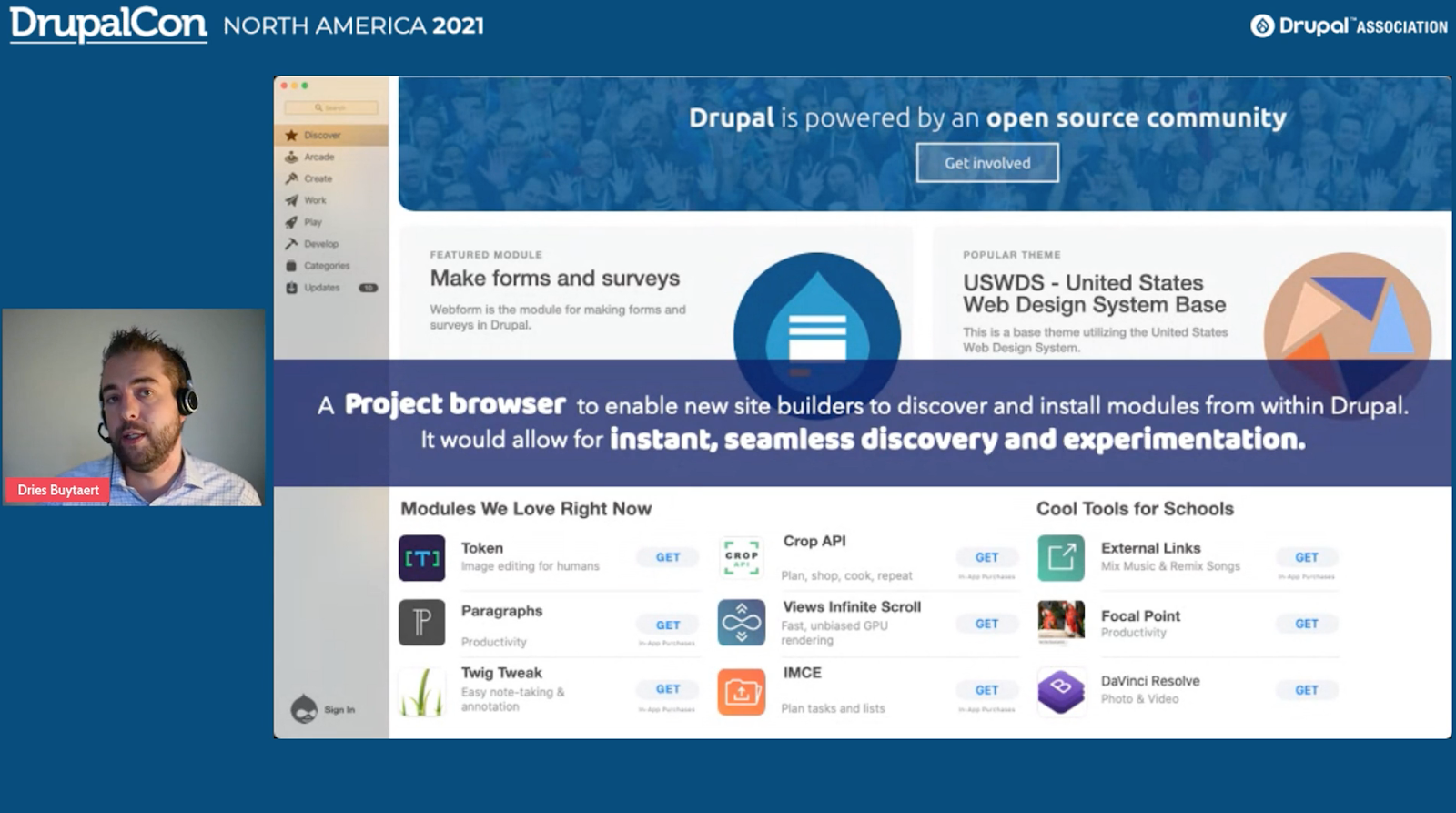 Drupal program browser initiative