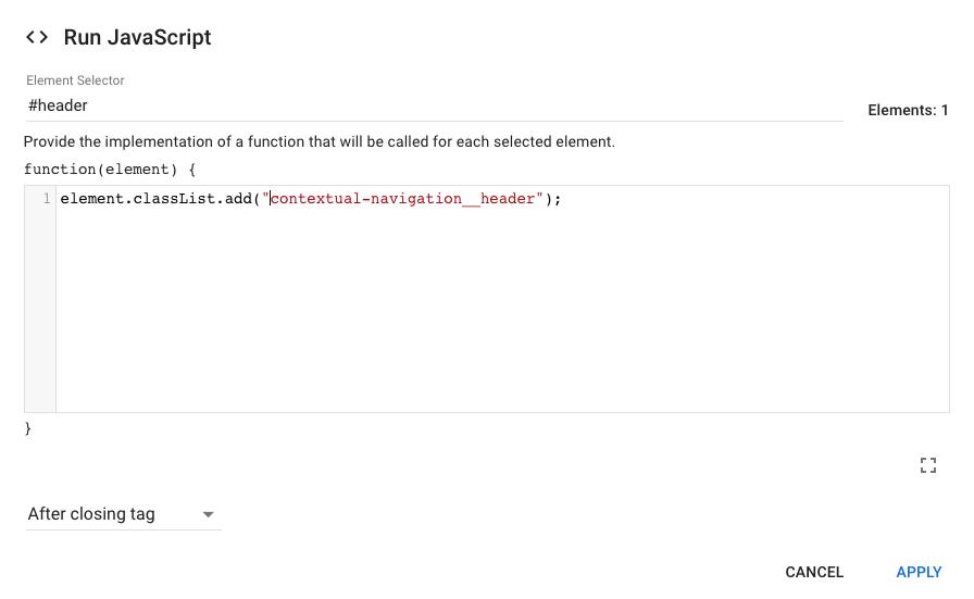 run javascript