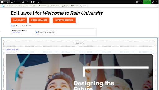 Rain University homepage