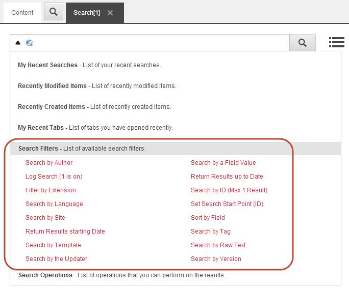 Sitecore search filtering